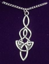 Pewter Dragon Knot Pendant